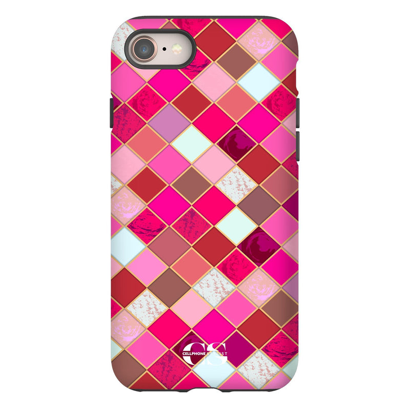 Lipstick Mosaic (iPhone) - Phone Case iPhone 8 Tough Gloss - Cellphone Stylist