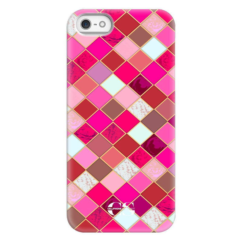 Lipstick Mosaic (iPhone) - Phone Case iPhone SE Snap Gloss - Cellphone Stylist
