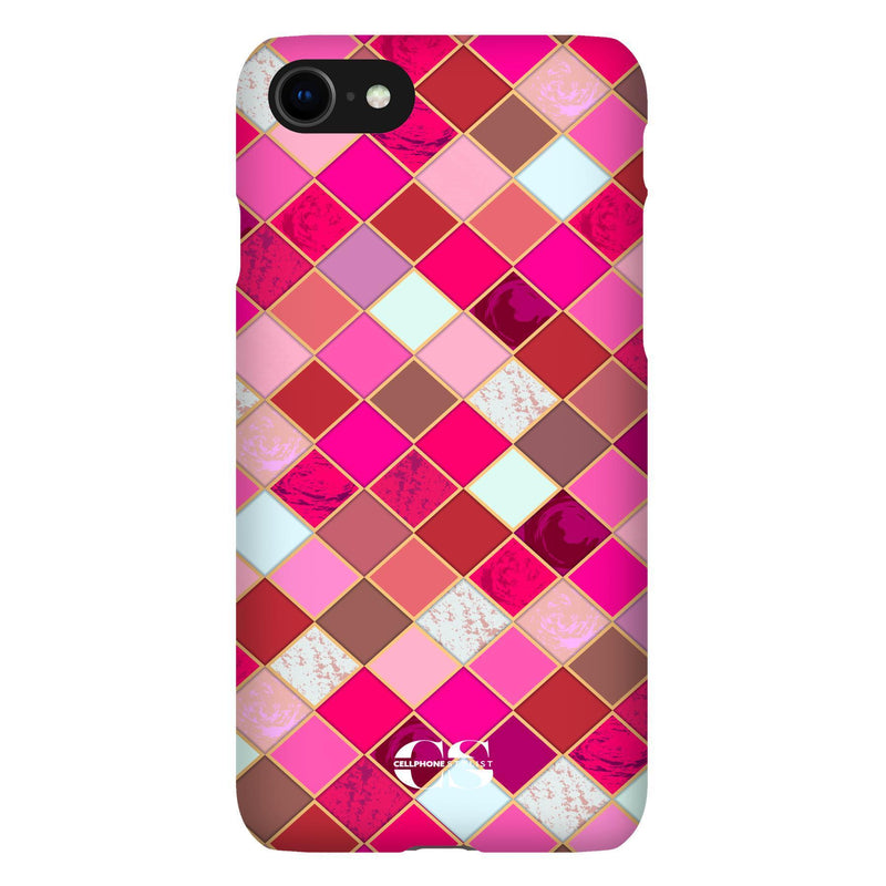 Lipstick Mosaic (iPhone) - Phone Case iPhone SE2 Snap Gloss - Cellphone Stylist