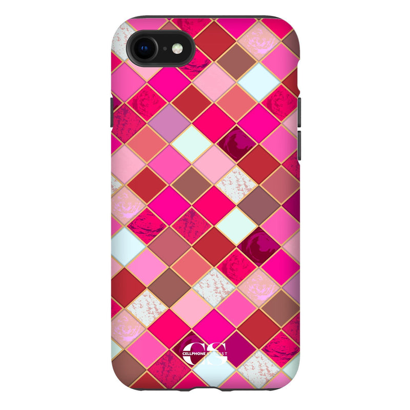 Lipstick Mosaic (iPhone) - Phone Case iPhone SE2 Tough Gloss - Cellphone Stylist