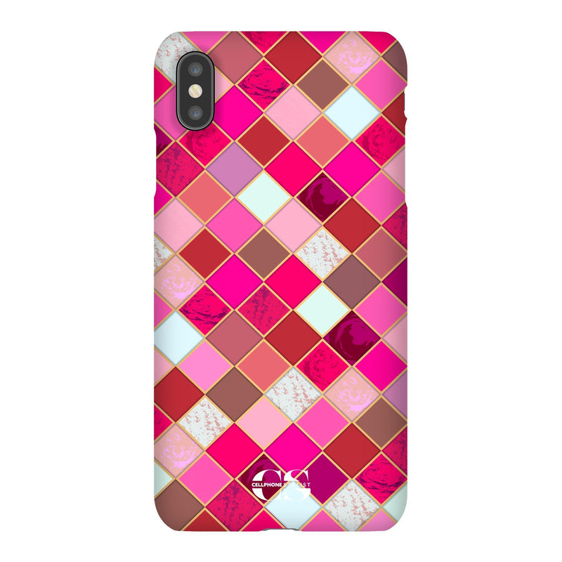 Lipstick Mosaic (iPhone) - Phone Case iPhone XS Max Snap Gloss - Cellphone Stylist