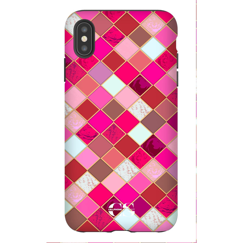Lipstick Mosaic (iPhone) - Phone Case iPhone XS Max Tough Gloss - Cellphone Stylist