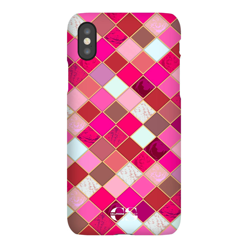 Lipstick Mosaic (iPhone) - Phone Case iPhone XS Snap Gloss - Cellphone Stylist