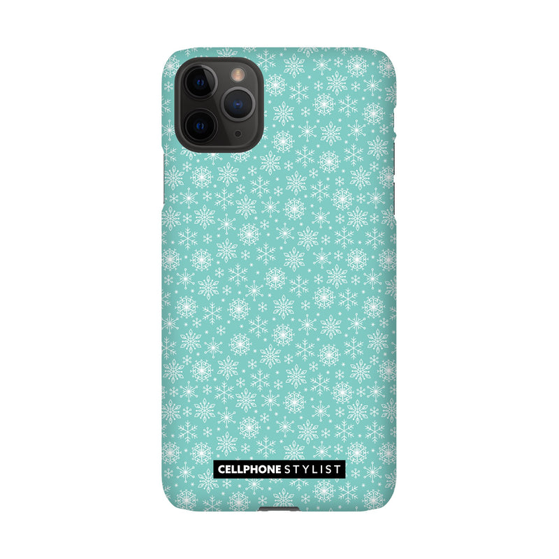 Merry Snowflakes (iPhone) - Phone Case iPhone 11 Pro Max Snap Gloss - Cellphone Stylist