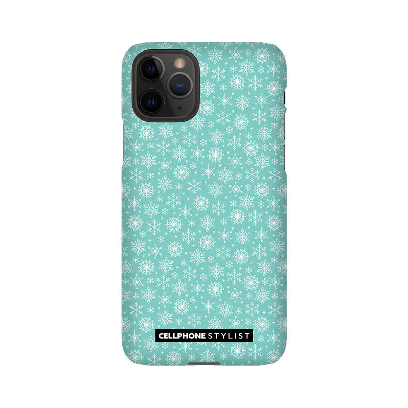 Merry Snowflakes (iPhone) - Phone Case iPhone 11 Pro Snap Matte - Cellphone Stylist