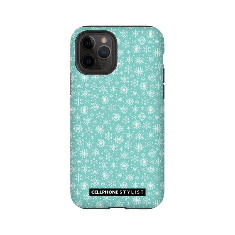 Merry Snowflakes (iPhone) - Phone Case iPhone 11 Pro Tough Matte - Cellphone Stylist
