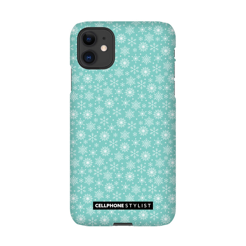 Merry Snowflakes (iPhone) - Phone Case iPhone 11 Snap Gloss - Cellphone Stylist