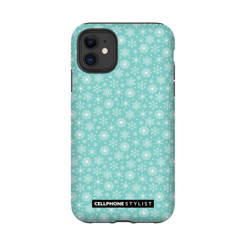 Merry Snowflakes (iPhone) - Phone Case iPhone 11 Tough Gloss - Cellphone Stylist