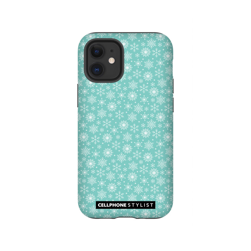 Merry Snowflakes (iPhone) - Phone Case iPhone 12 Mini Tough Gloss - Cellphone Stylist