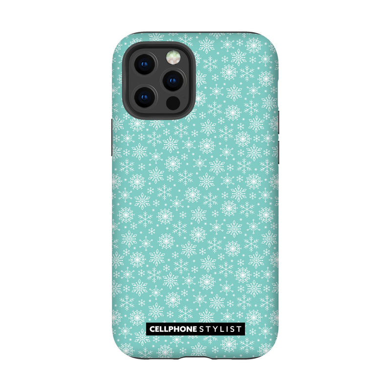 Merry Snowflakes (iPhone) - Phone Case iPhone 12 Pro Tough Gloss - Cellphone Stylist