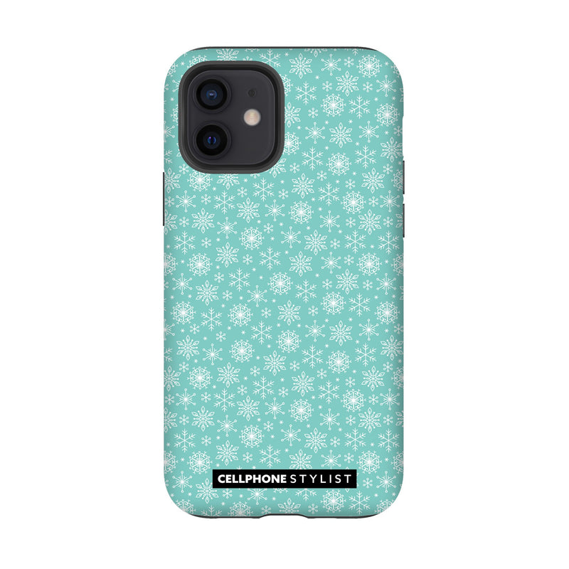 Merry Snowflakes (iPhone) - Phone Case iPhone 12 Tough Gloss - Cellphone Stylist