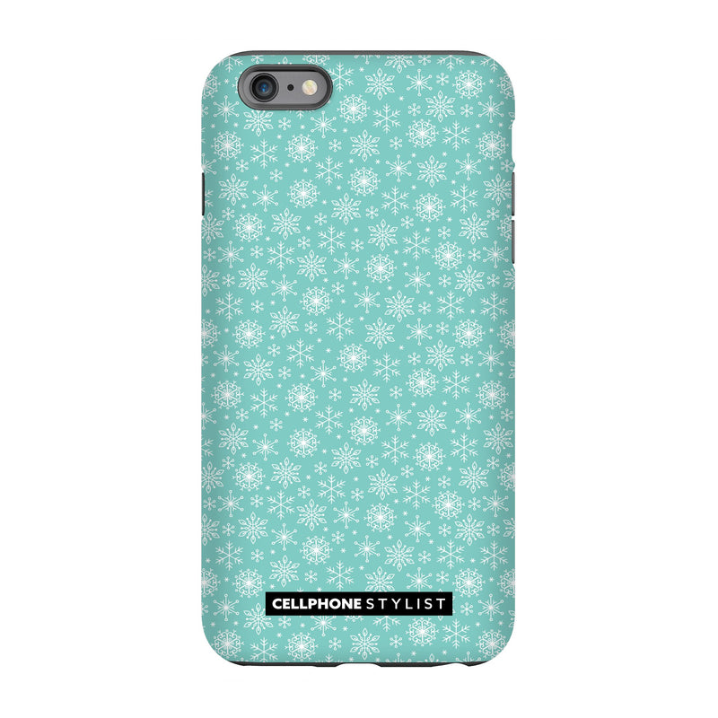 Merry Snowflakes (iPhone) - Phone Case iPhone 6 Pro Tough Gloss - Cellphone Stylist