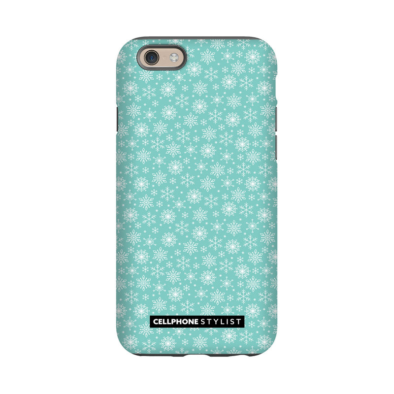 Merry Snowflakes (iPhone) - Phone Case iPhone 6 Tough Matte - Cellphone Stylist