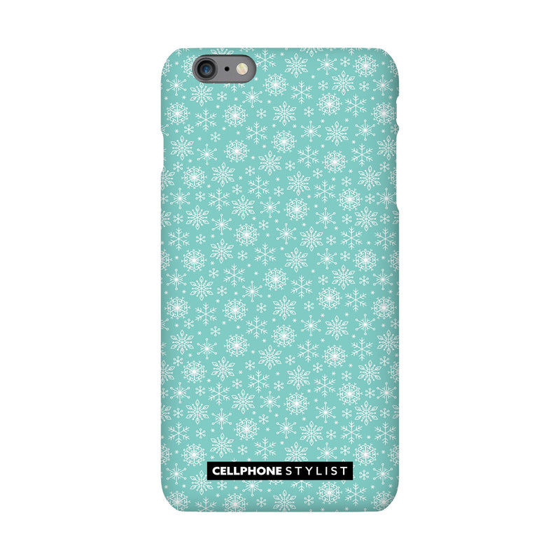 Merry Snowflakes (iPhone) - Phone Case iPhone 6S Pro Snap Gloss - Cellphone Stylist