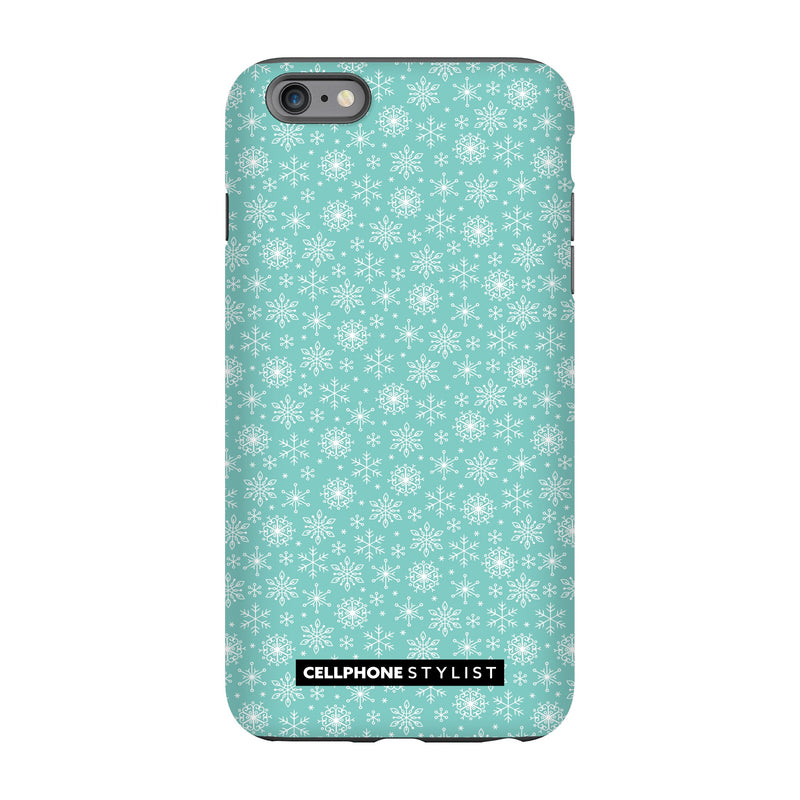 Merry Snowflakes (iPhone) - Phone Case iPhone 6S Pro Tough Matte - Cellphone Stylist