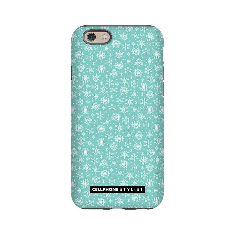Merry Snowflakes (iPhone) - Phone Case iPhone 6S Tough Gloss - Cellphone Stylist