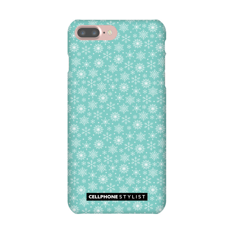 Merry Snowflakes (iPhone) - Phone Case iPhone 7 Pro Snap Gloss - Cellphone Stylist