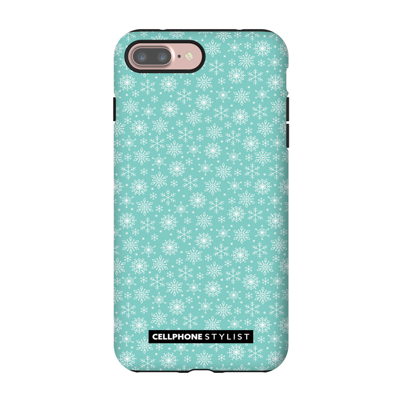 Merry Snowflakes (iPhone) - Phone Case iPhone 7 Pro Tough Gloss - Cellphone Stylist