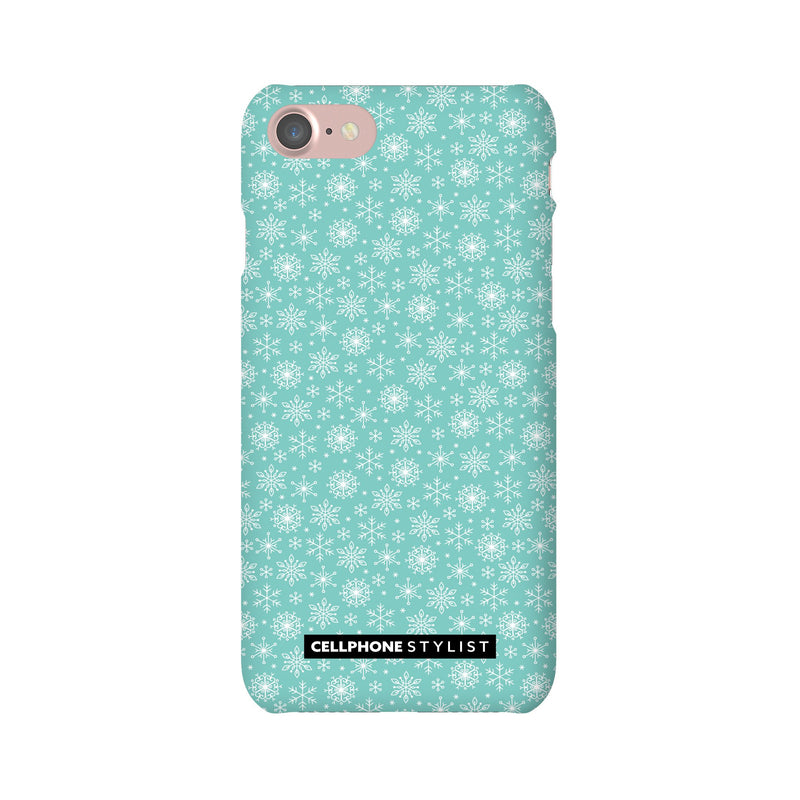 Merry Snowflakes (iPhone) - Phone Case iPhone 7 Snap Gloss - Cellphone Stylist