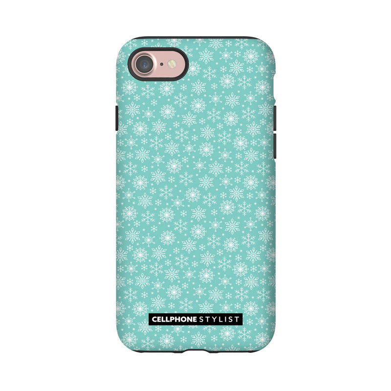 Merry Snowflakes (iPhone) - Phone Case iPhone 7 Tough Gloss - Cellphone Stylist