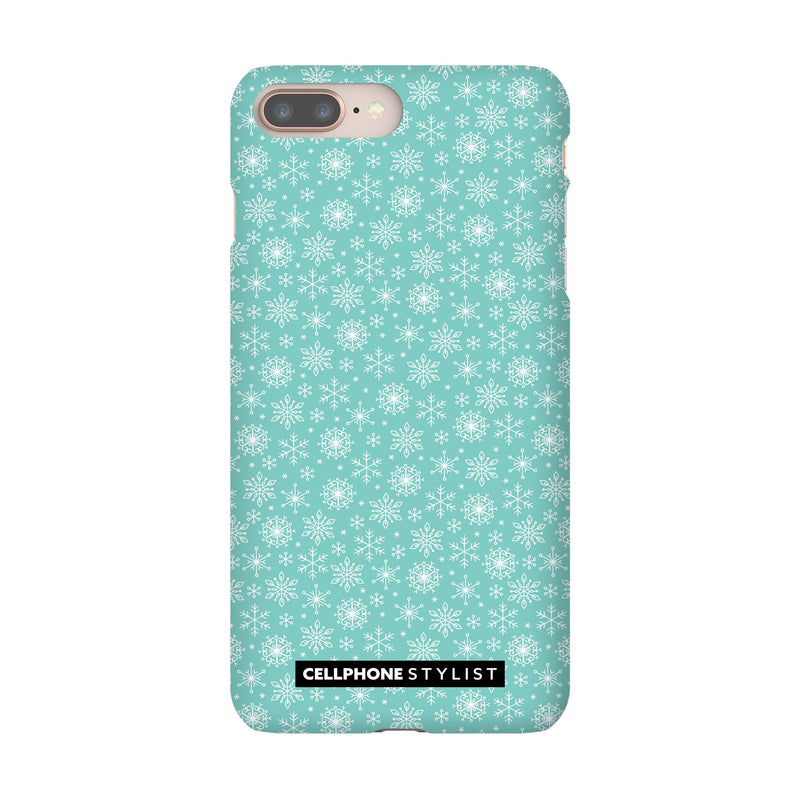 Merry Snowflakes (iPhone) - Phone Case iPhone 8 Plus Snap Gloss - Cellphone Stylist