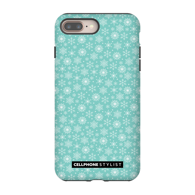 Merry Snowflakes (iPhone) - Phone Case iPhone 8 Plus Tough Gloss - Cellphone Stylist