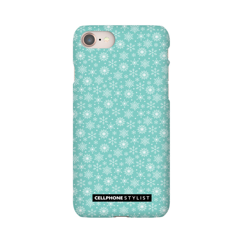 Merry Snowflakes (iPhone) - Phone Case iPhone 8 Snap Gloss - Cellphone Stylist