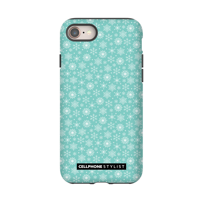 Merry Snowflakes (iPhone) - Phone Case iPhone 8 Tough Matte - Cellphone Stylist