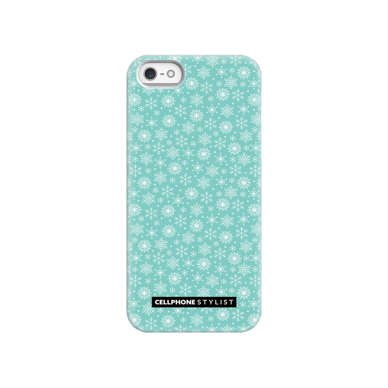 Merry Snowflakes (iPhone) - Phone Case iPhone SE Snap Gloss - Cellphone Stylist
