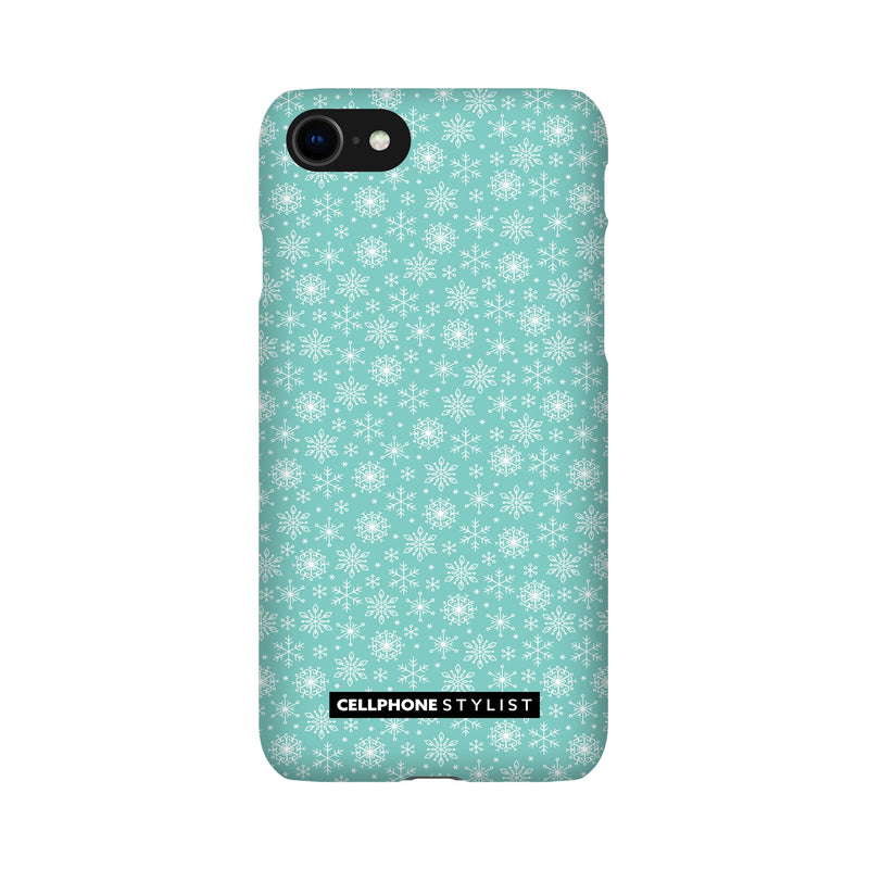 Merry Snowflakes (iPhone) - Phone Case iPhone SE2 Snap Gloss - Cellphone Stylist
