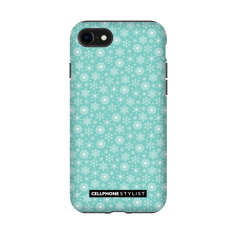 Merry Snowflakes (iPhone) - Phone Case iPhone SE2 Tough Matte - Cellphone Stylist