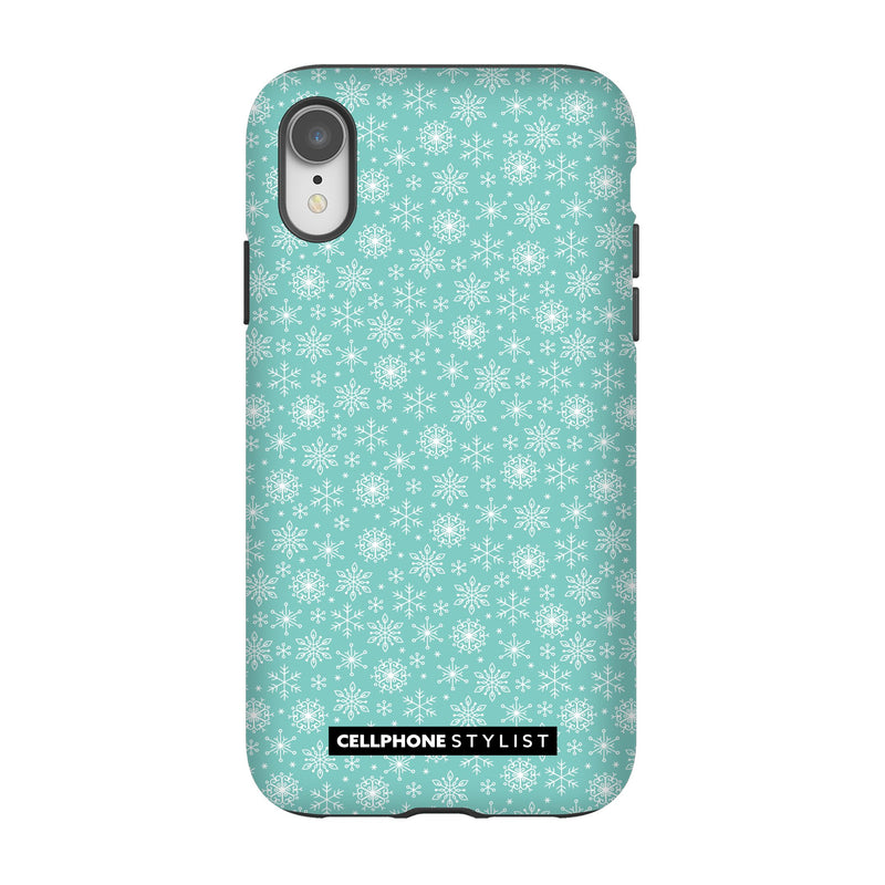 Merry Snowflakes (iPhone) - Phone Case iPhone XR Tough Gloss - Cellphone Stylist