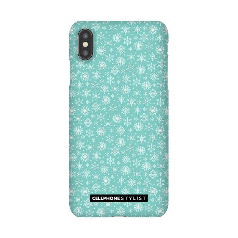 Merry Snowflakes (iPhone) - Phone Case iPhone XS Max Snap Gloss - Cellphone Stylist