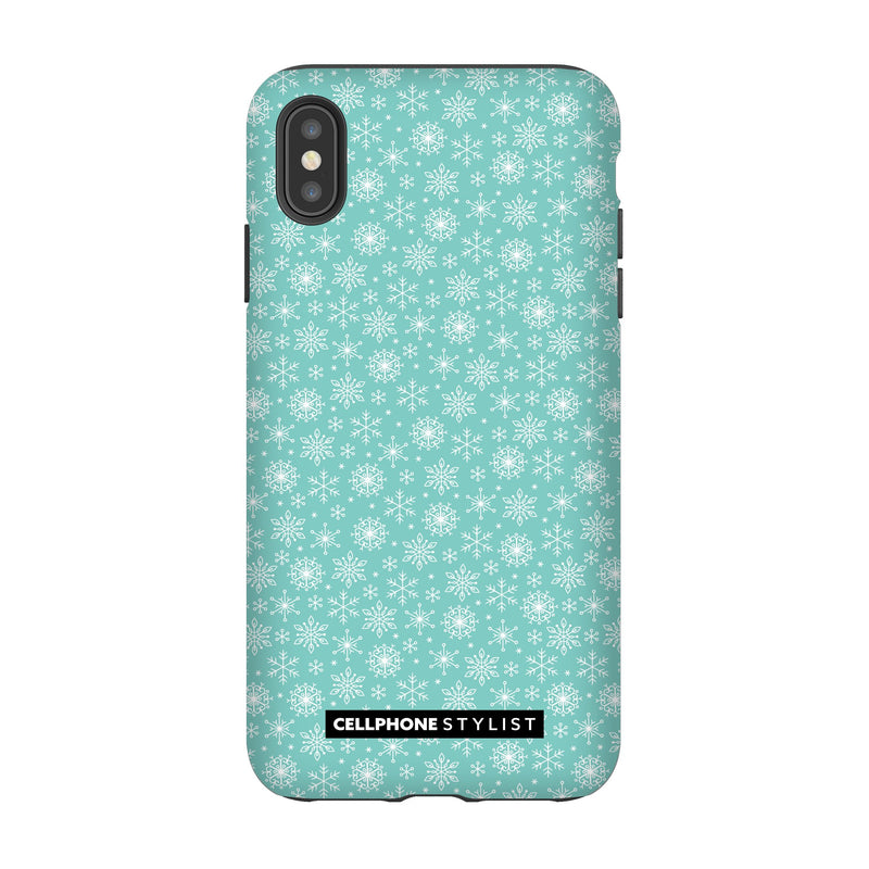 Merry Snowflakes (iPhone) - Phone Case iPhone XS Max Tough Gloss - Cellphone Stylist