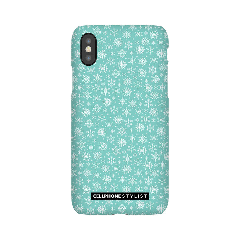 Merry Snowflakes (iPhone) - Phone Case iPhone XS Snap Gloss - Cellphone Stylist