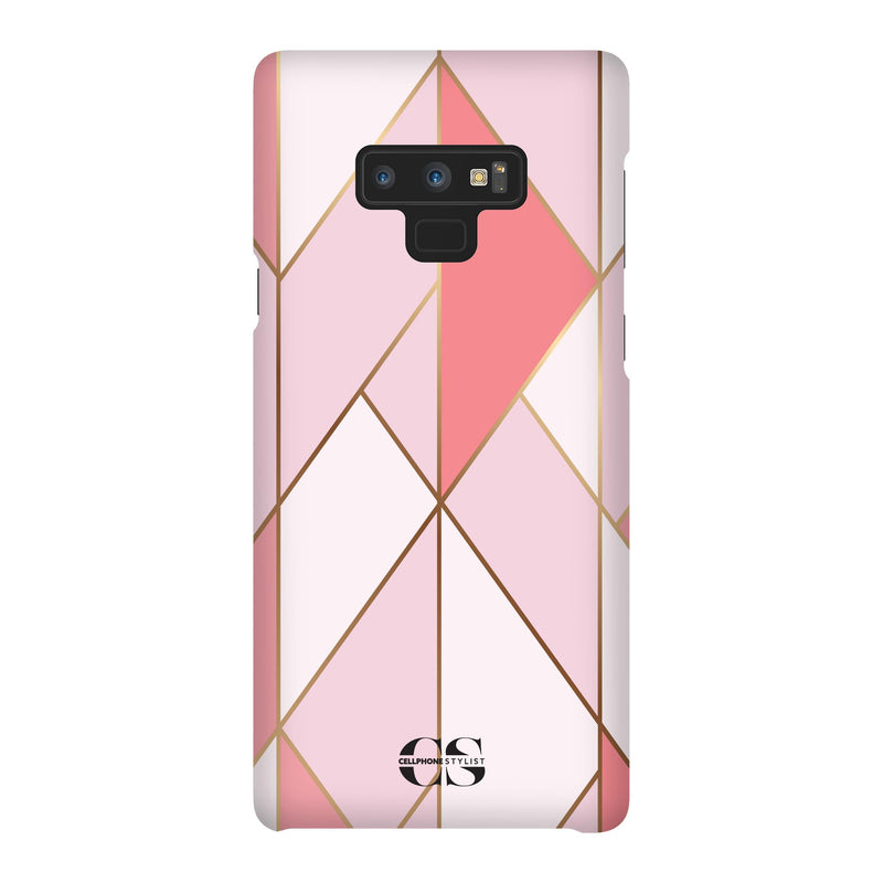 Miami Art Deco - Dark Pink (Galaxy) - Phone Case Galaxy Note 9 Snap Gloss - Cellphone Stylist