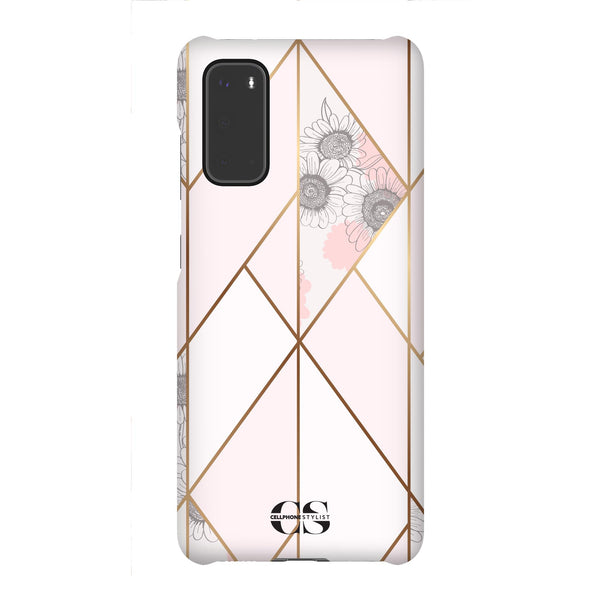 Miami Art Deco - Pink w/Flowers (Galaxy) - Phone Case - Cellphone Stylist