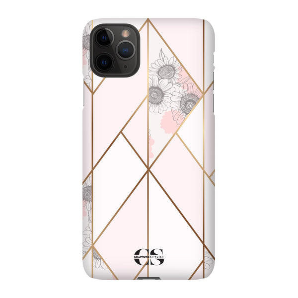 Miami Art Deco - Pink w/Flowers (iPhone) - Phone Case - Cellphone Stylist