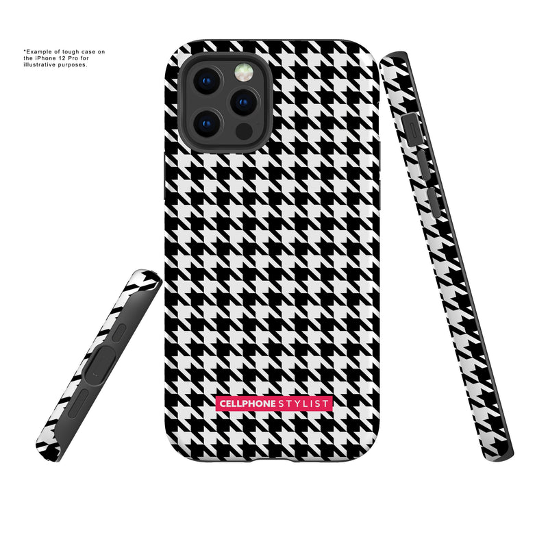 Mini Houndstooth - Black/White (iPhone) - Phone Case - Cellphone Stylist