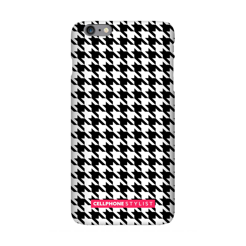 Mini Houndstooth - Black/White (iPhone) - Phone Case iPhone 6 Pro Snap Matte - Cellphone Stylist