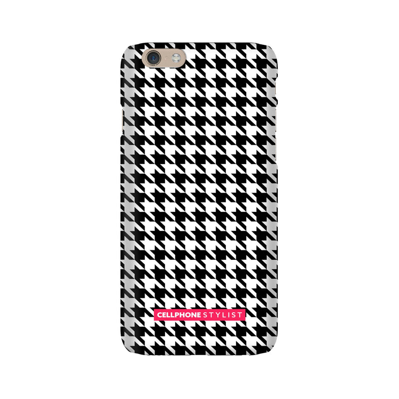 Mini Houndstooth - Black/White (iPhone) - Phone Case iPhone 6 Snap Gloss - Cellphone Stylist