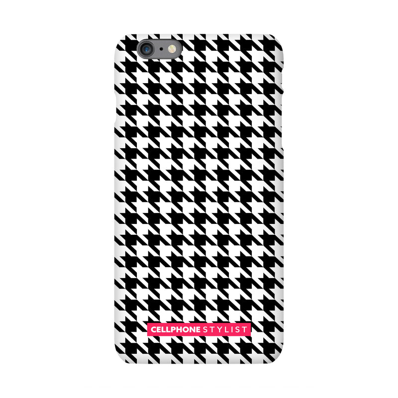Mini Houndstooth - Black/White (iPhone) - Phone Case iPhone 6S Pro Snap Matte - Cellphone Stylist