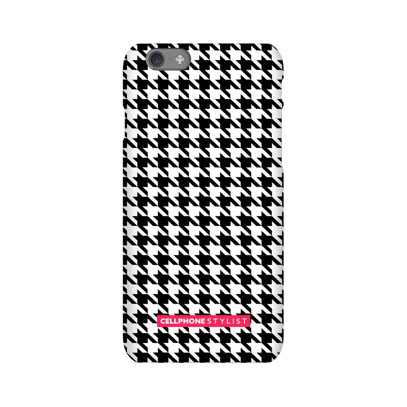 Mini Houndstooth - Black/White (iPhone) - Phone Case iPhone 6S Snap Gloss - Cellphone Stylist