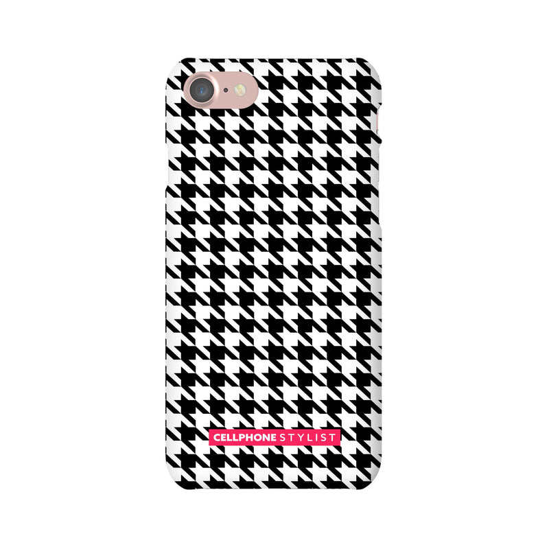 Mini Houndstooth - Black/White (iPhone) - Phone Case iPhone 7 Snap Matte - Cellphone Stylist