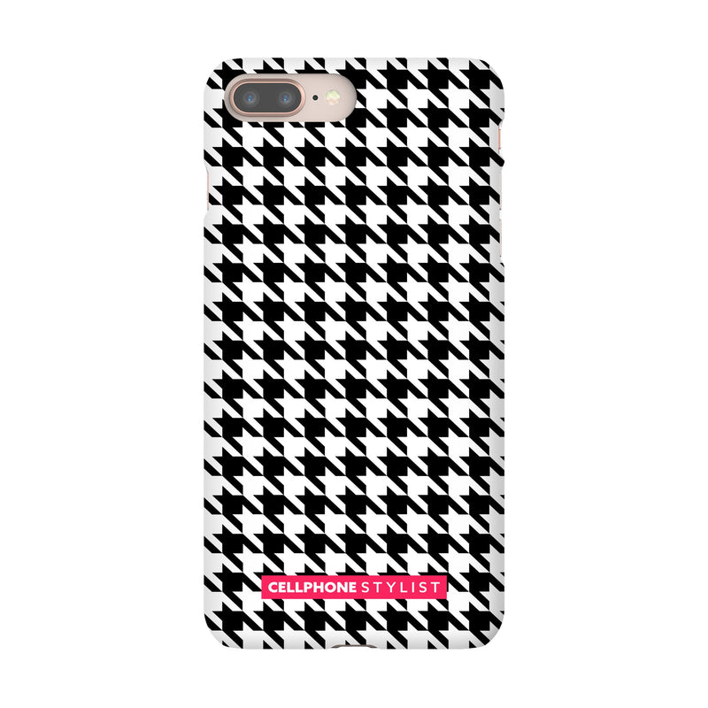 Mini Houndstooth - Black/White (iPhone) - Phone Case iPhone 8 Plus Snap Matte - Cellphone Stylist