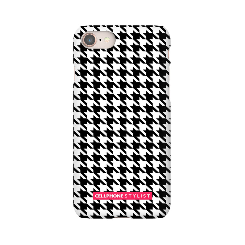 Mini Houndstooth - Black/White (iPhone) - Phone Case iPhone 8 Snap Matte - Cellphone Stylist