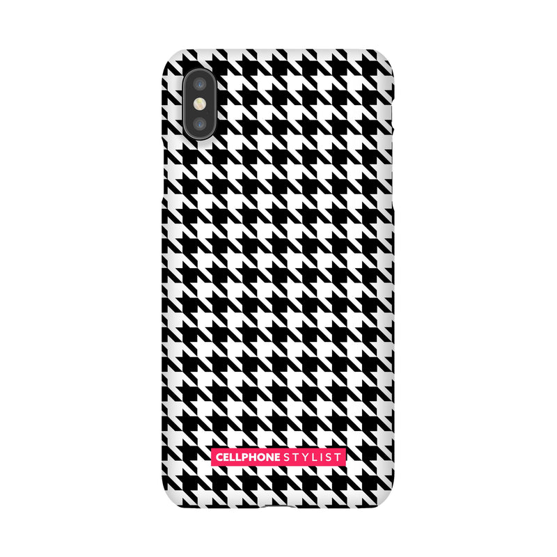 Mini Houndstooth - Black/White (iPhone) - Phone Case iPhone XS Max Snap Gloss - Cellphone Stylist