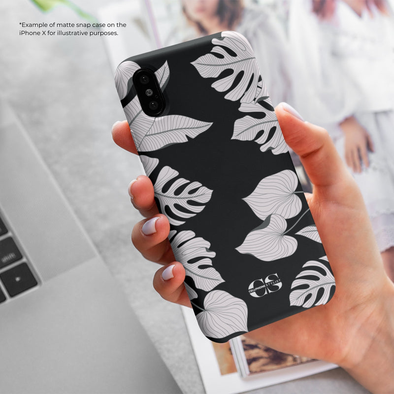 Tropical Pop Art - Black (iPhone) - Phone Case - Cellphone Stylist