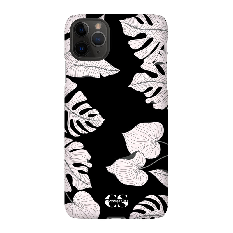 Tropical Pop Art - Black (iPhone) - Phone Case iPhone 11 Pro Max Snap Gloss - Cellphone Stylist