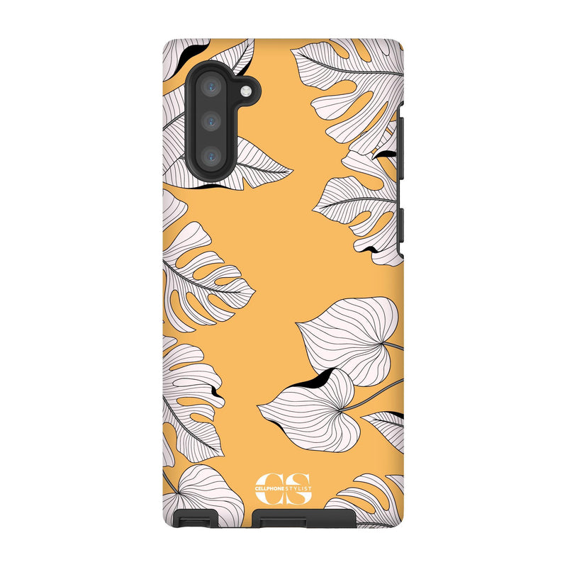 Tropical Pop Art - Orange (Galaxy) - Phone Case Galaxy Note 10 Tough Matte - Cellphone Stylist